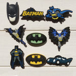 Novelty 1pc Batman PVC Shoe Charms Shoe accessories Shoe decoration Shoe Buckles Accessories Fit Kids Band Bracelets Croc JIBZ