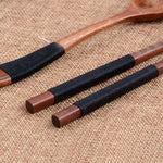 3 Piece: Wooden Fork, Spoon & Chopsticks Dinnerware Set