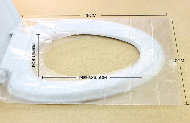 50Pcs/100Pcs Travel Safety Plastic Disposable Toilet Seat Cover