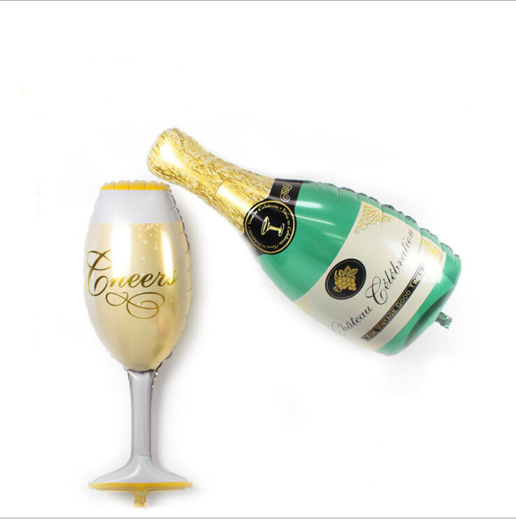 Mini Champagne Bottle Foil Balloons Balloon Wedding Decoration Party Decorations Inflatable Balls for Holidays