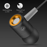 Wired In-Ear Noise Cancelling Sweatproof Fitness Earphones with Mic