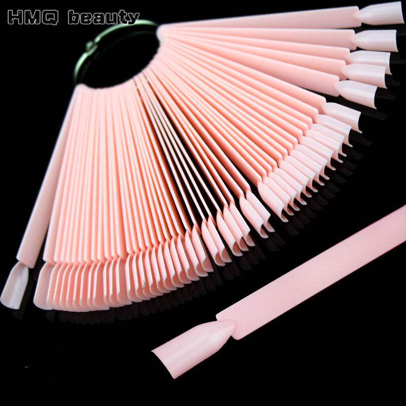 False Nail Tips Color Card Manicure Nail Art Practice Slice Board Pink Clear White Buckle Ring DIY Nail Display Tools
