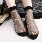 1 Pair: Womens Ultra Thin Transparent Lace Socks