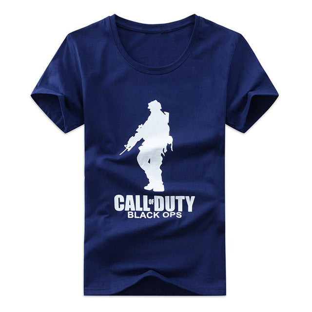 Fashion Men T shirt Summer Printing Army T-shirt Casual Short Sleeve Tshirt Men Cotton Plus Size Homme Clothes Tees Plus Size