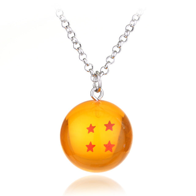 Japanese animated Dragon Ball Z necklace  shenron Realize your wishes series super dragonball 4 stars Goku Dragonball Necklace