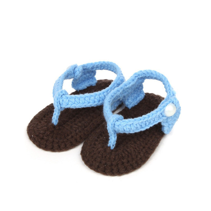 Crochet Baby Flip flop Sandals Crib Crochet Baby Girls Boys Handmade Knit Sock Clip Toe Infant Shoes