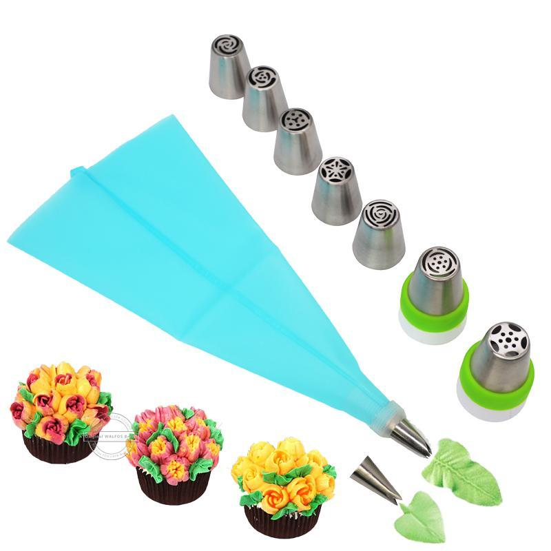 13 Piece: Pastry Icing Nozzle Cake Decorating Set