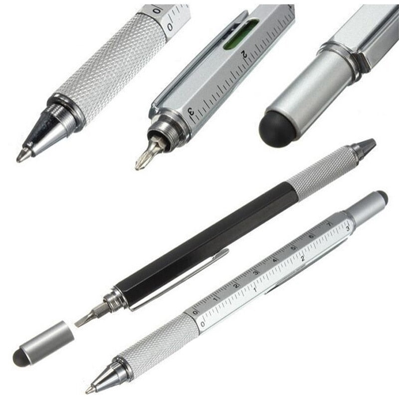Multi-Functional Screwdriver Pen with Touchscreen Point and Tiny Ruler