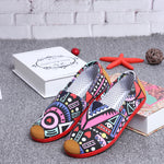 Women's Cute Strip Cloth Spring and Summer Canvas Shoes