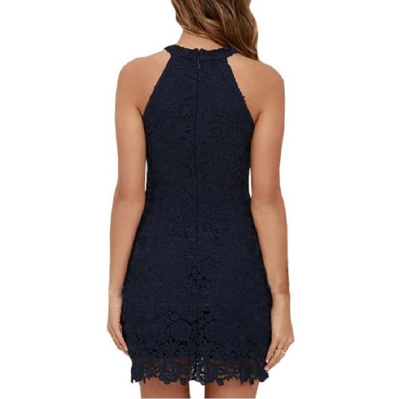 O-Neck Lace Patchwork   Party Dresses Vestidos Fashion Women Summer Plus Size ladies Black Pencil Off Shoulder Dress