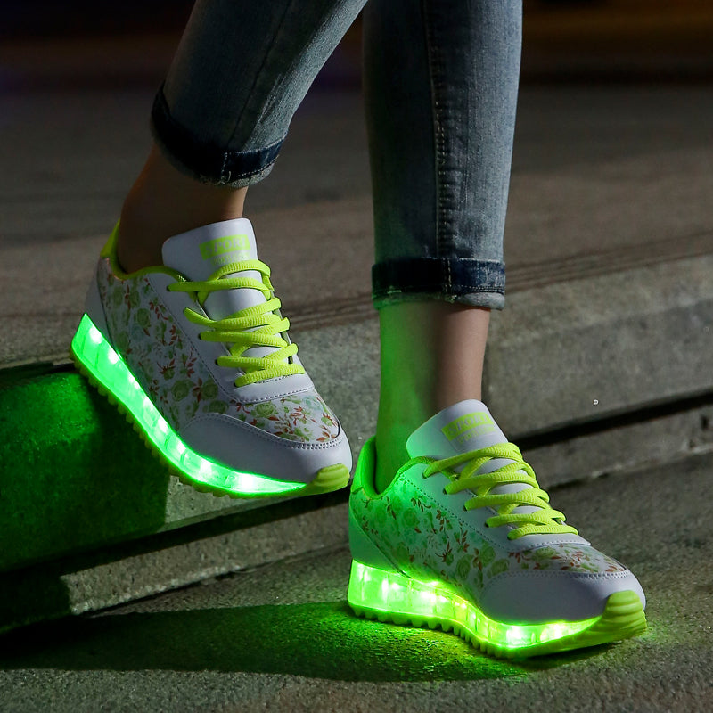 women Led Shoes7 Colors Led Luminous shoes woMen High Top LED Shoes For Adults Usb Charging Led Lights Up Shoes  Casual shoes