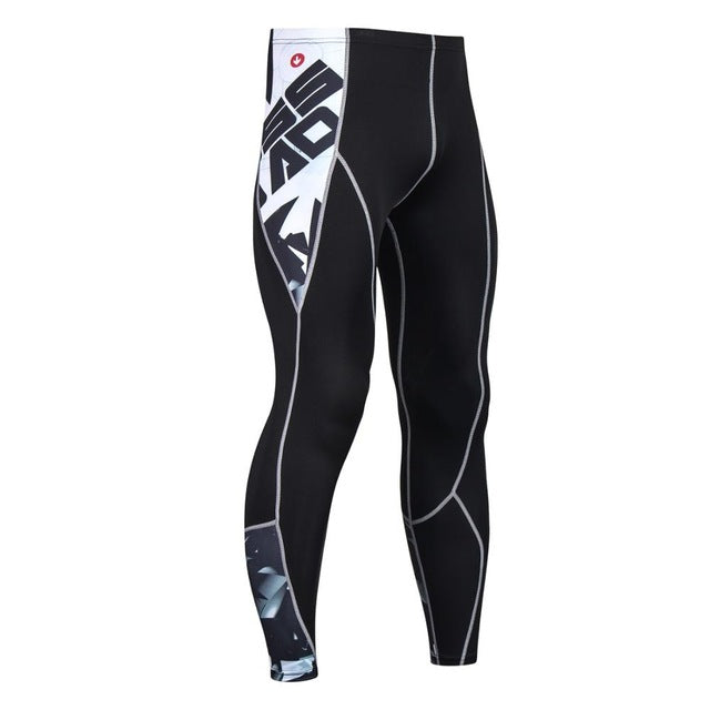 Mens Workout Fitness Compression Leggings