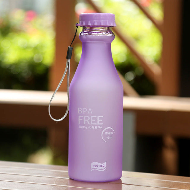 Portable 550ml Plastic Sports Water Bottle Container Leak-proof Bottles for Outdoor Riding Traveling Climbing Camping TB