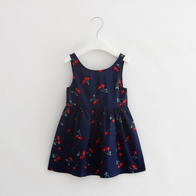 Baby Girl Summer Casual Style Dress Sweet Heart Print Cotton Princess Kids Dresses For Girls Clothes Toddler Girl Clothing