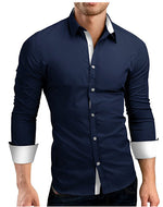 Men's Long Sleeve Button Down Slim Fit Dress Shirt