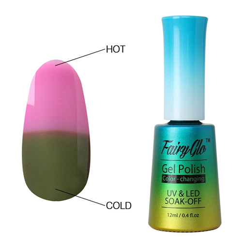 FairyGlo 12ML Thermo UV Gel Nail Polish LED Gel Polish Color Change Paint Gellak Hybrid Varnish Lucky Lacquer Semi Permanent