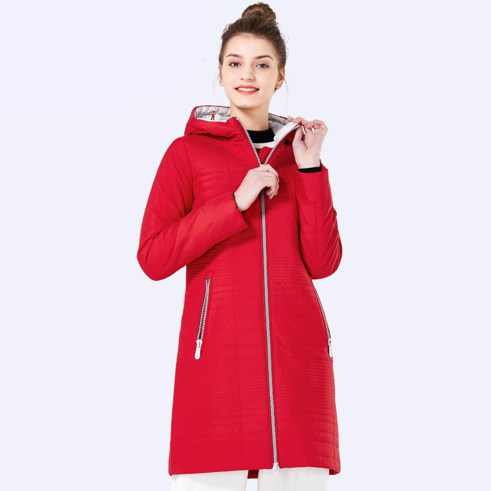 Women's Long Cotton Padded Hooded Parka