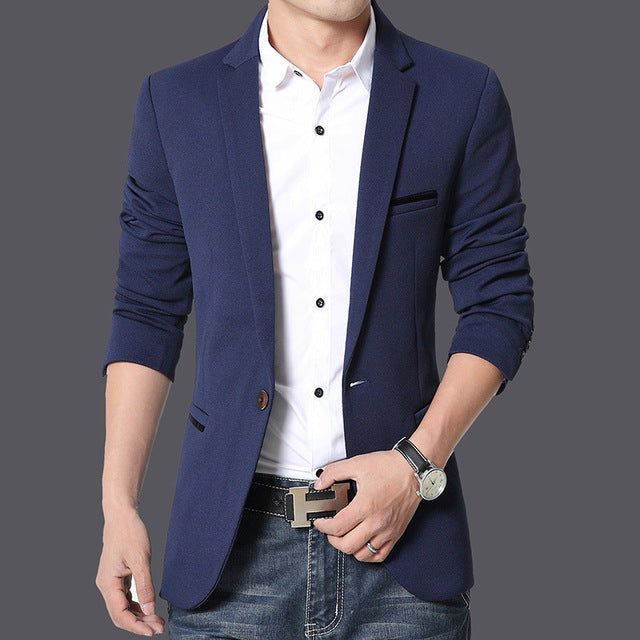 New Brand Men Blazer Casual Suits Slim Fit Suit Jacket Men Pure Cotton Costume Homme Terno Masculin Blazers Plus Size M-6XL