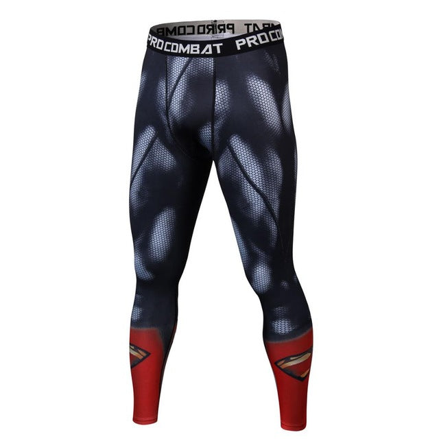 Brand clothing new Mens trousers compression 3D printing superhero superman/cheetag leggings M-3XL.