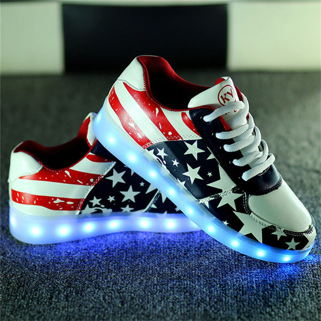 Women Fashion Led Sneakers Light Casual Shoes Glow LED Luminous Light up Chaussure Lumineuse USB Basket Femme Unisex