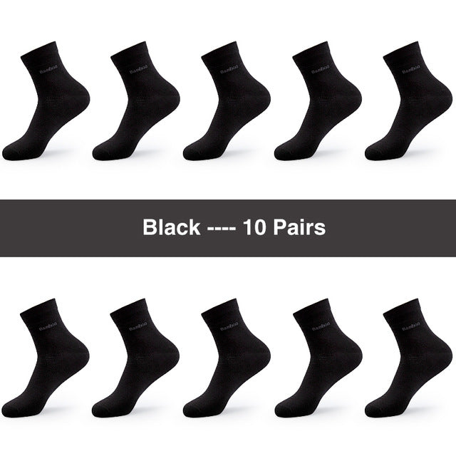 10 Pack: Men's Bamboo Anti-Bacterial Breathable Comfort Socks