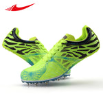 Athletic Men Spikes Sneakers Track & Field Shoes Breathable Light Run Trainers Outdoor Long-jump Racing Sport Shoes Size 35-45