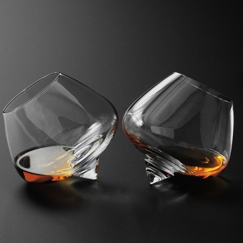 Self-Holding Crystal Cocktail / Whiskey Glass