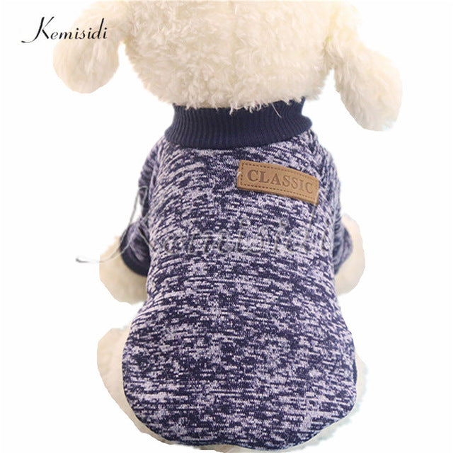 KEMISIDI Dog Clothes Ten Colors Classic Fashion Wool Sweater Dog And Cat Autumn And Winter Sweet Fleece Clothing