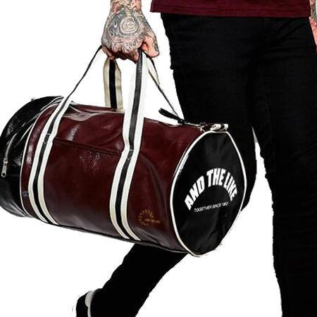 Men's Vintage Leather Fitness Gym Bag