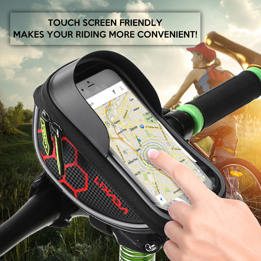 Bicycle Handlebar Frame Smart Phone Touch Screen Sport Bag