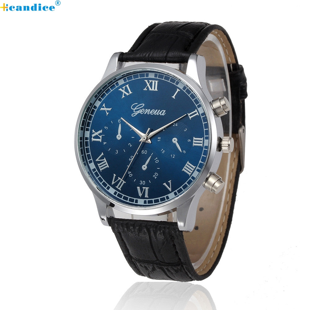 Black Brown Man male clock hour watches, Retro Design Leather Band Analog Alloy Quartz Wristwatches