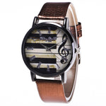 New Relogio Feminino Sale Piano Musical Notation Retro Casual Quartz Watch Female PU Leather Women Watches Relojes Mujer