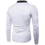 Men's long sleeved polo New Autumn fashion brand men shirts slim Fit male clothes casual patchwork color cotton tops S0801