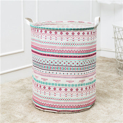 Laundry Basket Storage Waterproof Large Basket cotton linen Canvas Sheets Laundry Clothes Laundry Basket Folding Storage box