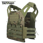 TACVASEN Camouflage Military Tactical Vest Wargame Body Molle Armor sleeveless garment Jungle Equipment Men Army Gear D-SZLM-014