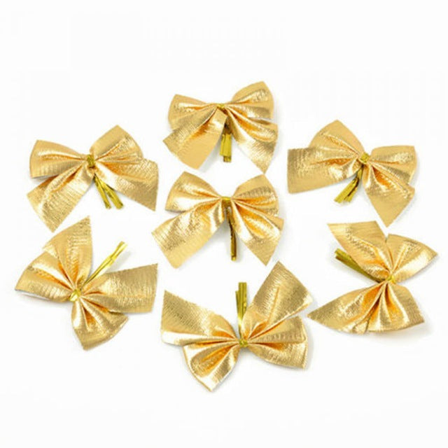 12 Pack: Christmas Holiday Bow Decoration