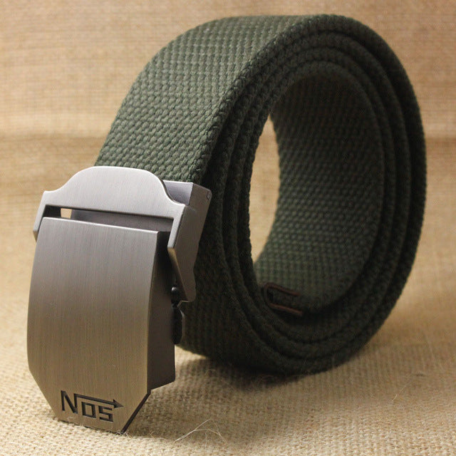 Men's Tactical Outdoor Alloy Automatic Buckle Belt