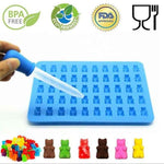 50 Cavity Silicone Gummy Bear Chocolate Ice Candy Mold