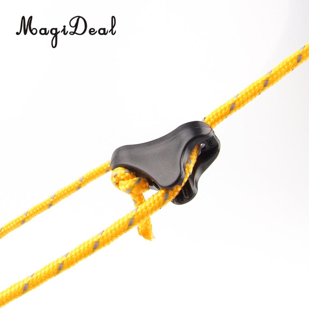 MagiDeal 10Pcs Outdoor Anti-slip Camping Tent Plastic Camping Tent Guyline Runners Cord Rope Tensioners Kit Hiking Accessory