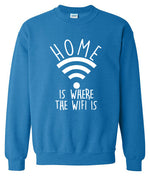 Home Is Where The Wifi Is men's sportswear fleece high quality hoodies spring winter sweatshirt Crossfit tracksuits k-pop