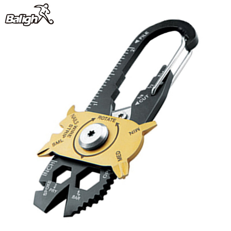 Portable 20-in-1 Multi-Function Utility Outdoor Gadget Keychain