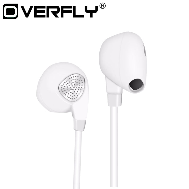Overfly Stereo Bass Sound Earphone IM500 Wired Headphones Noise Canceling Headset with Microphone for mobile phone iPhone Xiaomi