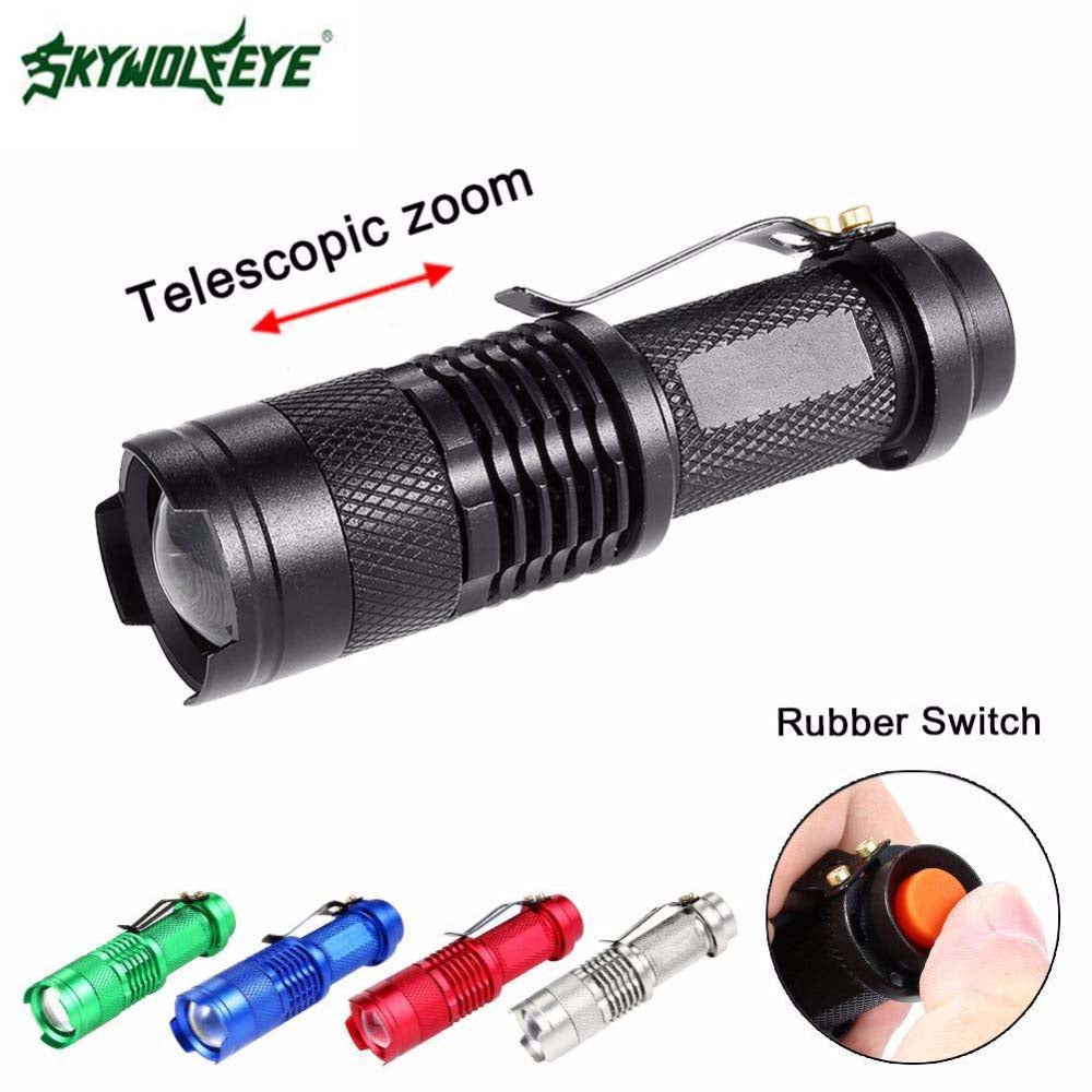 Zoom Adjustable LED Flashlight 2000LM
