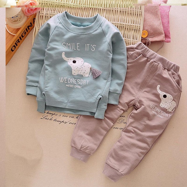 Cotton Baby Boy Clothes Spring Baby Clothing Sets Roupas Bebe Long Sleeve Children Clothing Fashion Kids Clothes T-shirt+Pants