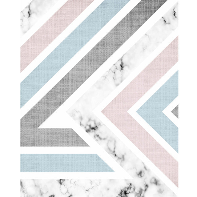 Abstract Marble Canvas Geometric Wall Art