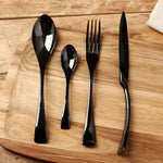 4Pcs/Set Black Western Food Tableware Sets