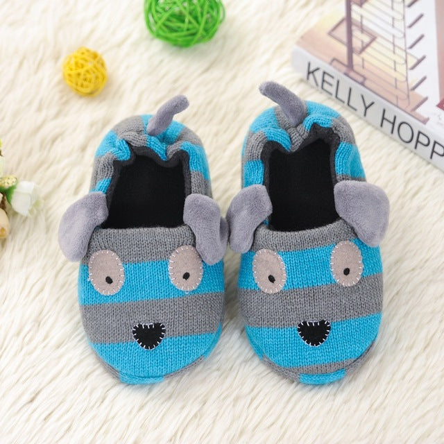 Children Cotton Indoor Slippers Shoes Kids Winter Boys And Girls Home Slippers Baby Non-Slip Cartoon Cute Plush Warming Shoes