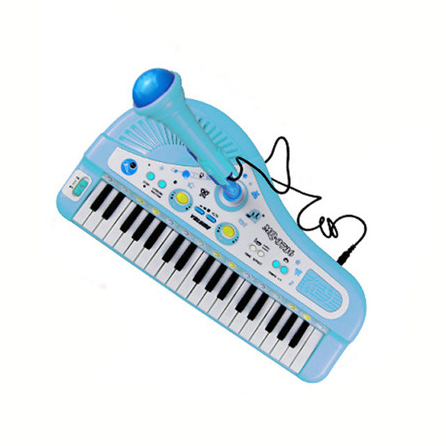 Kids Mini 37-Key Electric Piano with Microphone