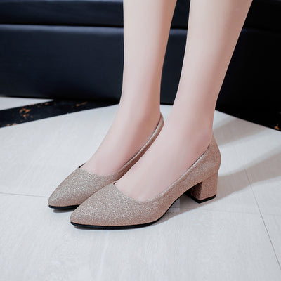 Women's Cute pu Leather High Heel Shoes