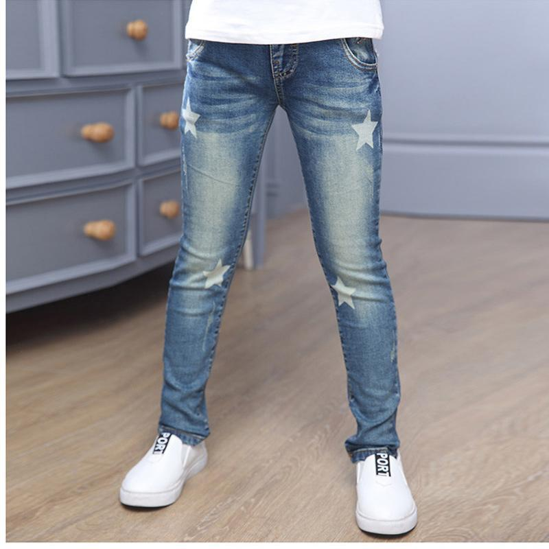 New Style Baby Girl Jeans Lovely Kids Pants Casual Trousers Children Clothes Korean Denim Pants